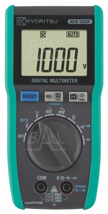 Zdjęcie produktu: KEW1020R Multimetr z pomiarem TRMS    Kyoritsu