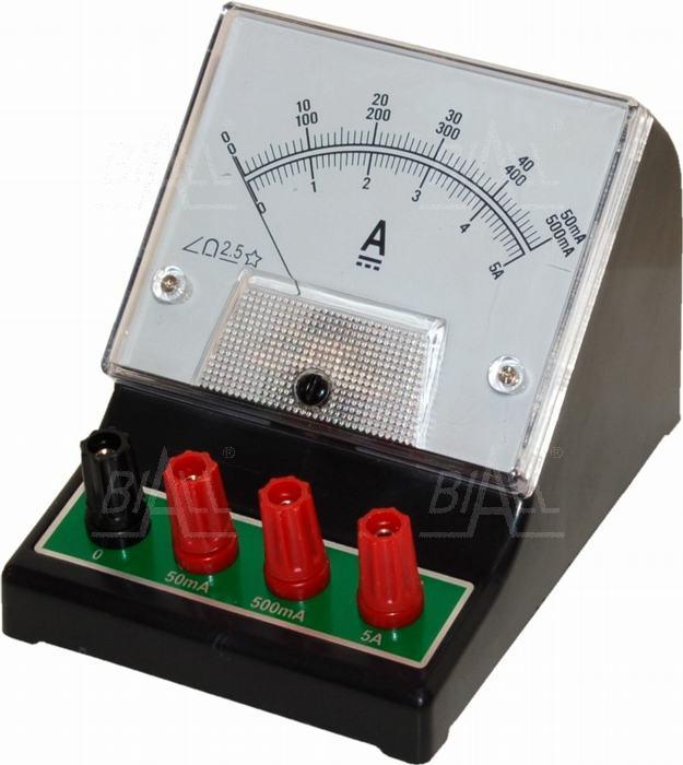 Zdjęcie produktu: Amperomierz analog. szkolny DCA-1, 50mA-500mA-5A DC