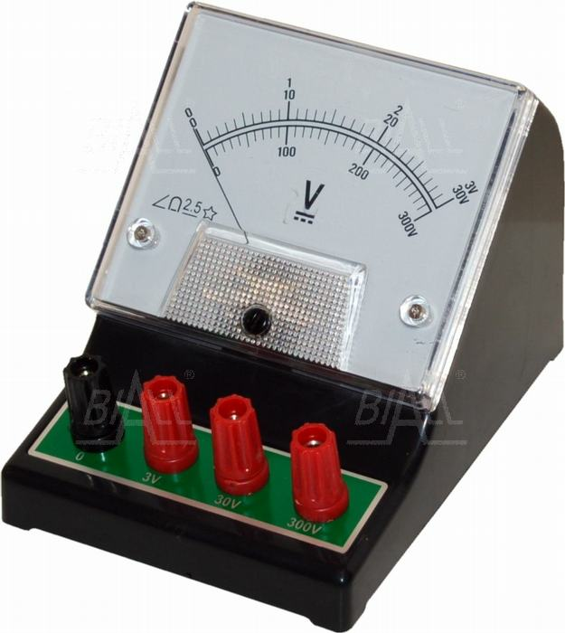 Zdjęcie produktu: Woltomierz analog. szkolny DCV-1 3V-30V-300V DC