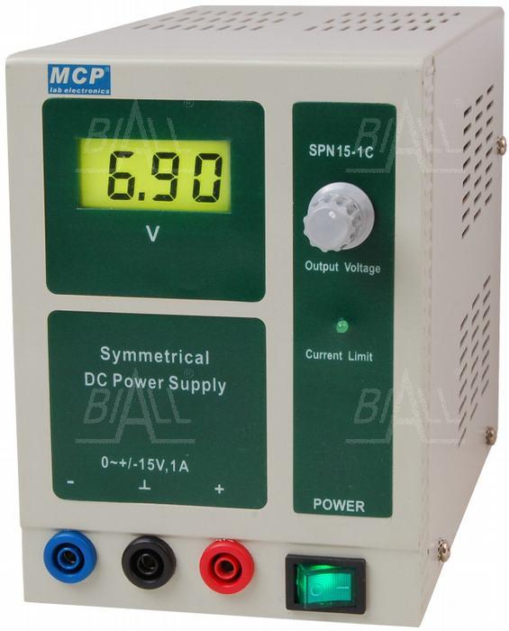 Zdjęcie produktu: Zasilacz lab symetryczny SPN15-1C +15V/-15V/1A  DC MCP