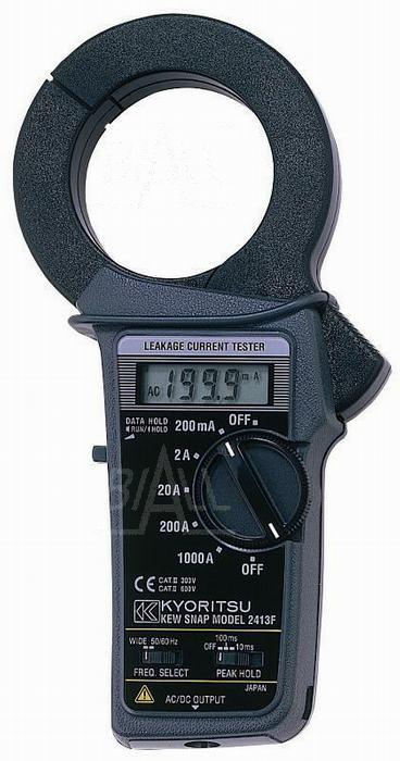 Zdjęcie produktu: KEW2413F Miernik cęgowy prądu upływu 0,1mA-1000A