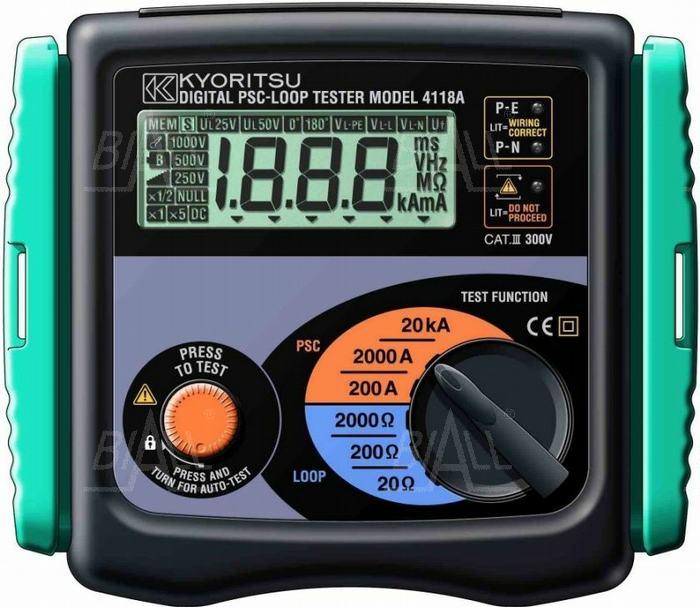 Zdjęcie produktu: KEW4118A (KPL) Miernik impedancji pętli zwarcia  Kyoritsu