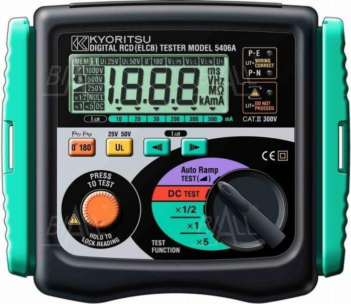 Zdjęcie produktu: KEW5406A (KPL) Miernik wyłączników RCD      Kyoritsu