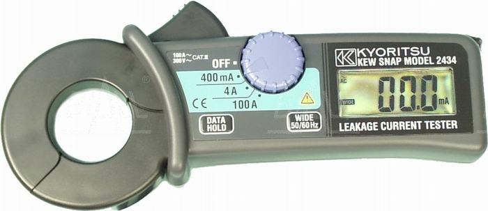 Zdjęcie produktu: KEW2434 Miernik cęgowy prądu upływu 0,1mA-100A  Kyoritsu