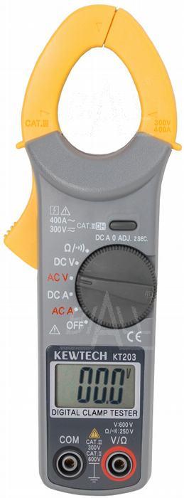 Zdjęcie produktu: KT203 Miernik cęgowy 0,01A-400A AC/DC Kew Tech