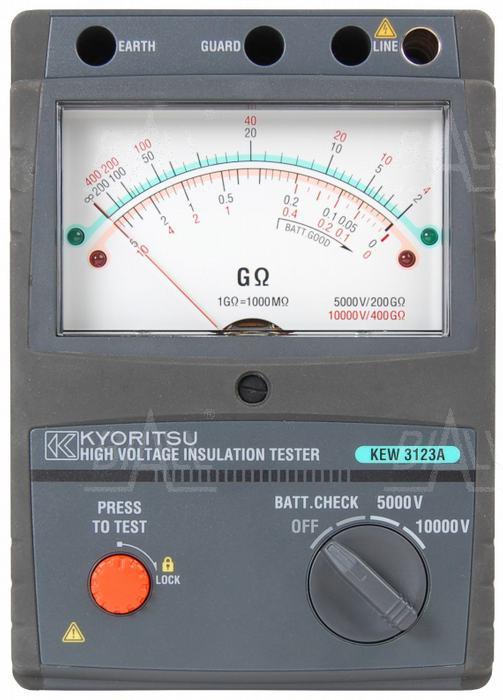 Zdjęcie produktu: KEW3123A Analogowy miernik rezystancji izolacji 5-10kV  Kyoritsu