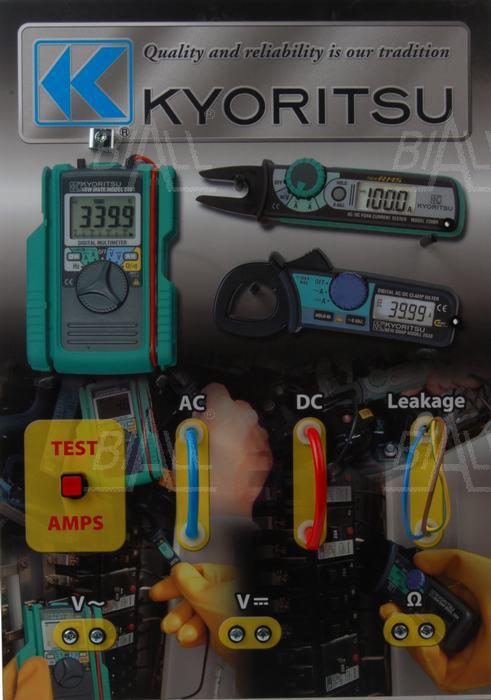 Zdjęcie produktu: KEW8215 Panel demonstracyjny miernków cęgowych Kyoritsu