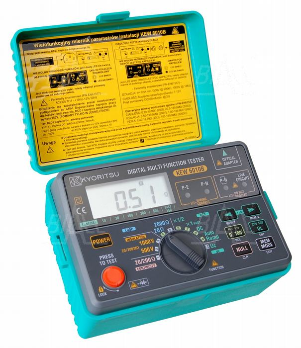 Zdjęcie produktu: KEW6010B (KPL) Wielofunkcyjny miernik instalacji elektrycznej