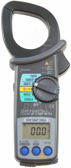 Zdjęcie produktu: KEW2003A Miernik cęgowy 2000A AC/DC   Kyoritsu