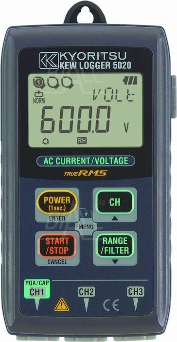 Zdjęcie produktu: KEW5020 Logger/rejestr. prądu i napięcia AC, jakości energii 3-kan. Kyoritsu