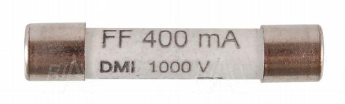 Zdjęcie produktu: Bezpiecznik 0,4A/1kV IR 30kA typ F 6x32mm