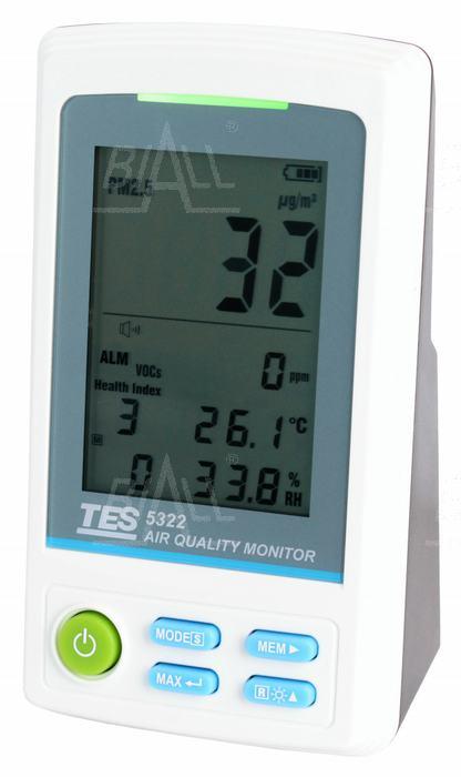 Zdjęcie produktu: TES5322A Miernik rejestrator parametrów jakości powietrza PM 2.5/LZO/czad