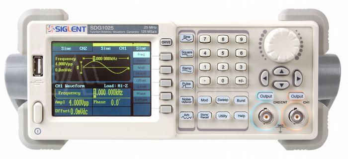 Zdjęcie produktu: SDG1025 generator funkcyjny/arbitr.25MHz, 2 kan, 125MSa/s, 16Kpts