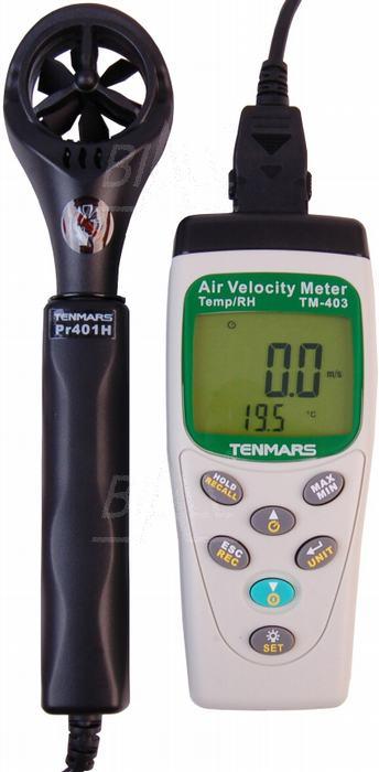 Zdjęcie produktu: TM403 Anemometr, przepływ,temp.wilg. TENMARS