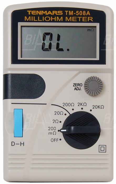 Zdjęcie produktu: TM508A Miliomomierz 0,1mOhm dokł. 0,3% TENMARS