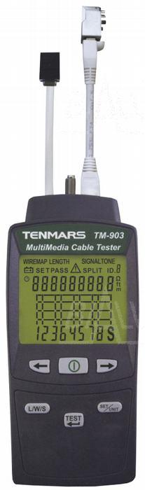 Zdjęcie produktu: TM903 Tester sieci LAN , telefonicznej i video  TENMARS