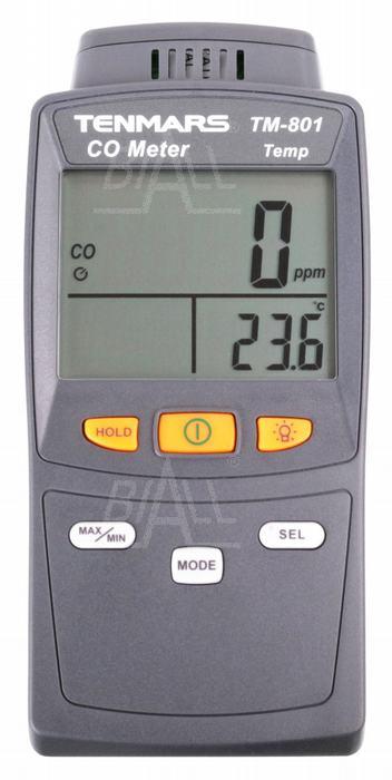 Zdjęcie produktu: TM801 Miernik zawartości tlenku węgla CO 0~1000ppm TENMARS