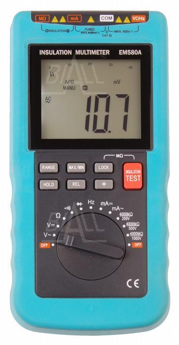 Zdjęcie produktu: EM580A  Multimetr z pomiarem rezystancji izolacji 1kV