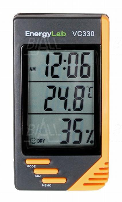 Zdjęcie produktu: VC330 Termohigrometr+zegar EnergyLab