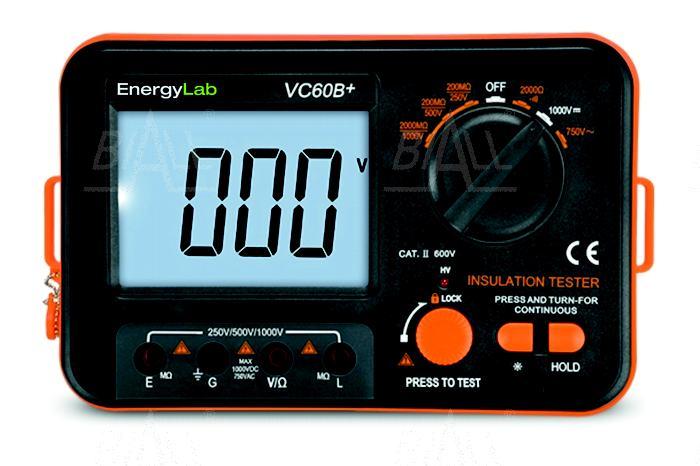 Zdjęcie produktu: VC60B+ Miernik rezystancji izolacji 250/500/1000V 2GOhm EnergyLab