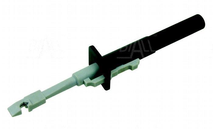 Zdjęcie produktu: Chwytak z igłą, bezp. gn. 4mm CH163-BK 10A CAT III 1000V