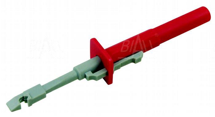 Zdjęcie produktu: Chwytak z igłą, bezp. gn. 4mm CH163-R 10A CAT III 1000V