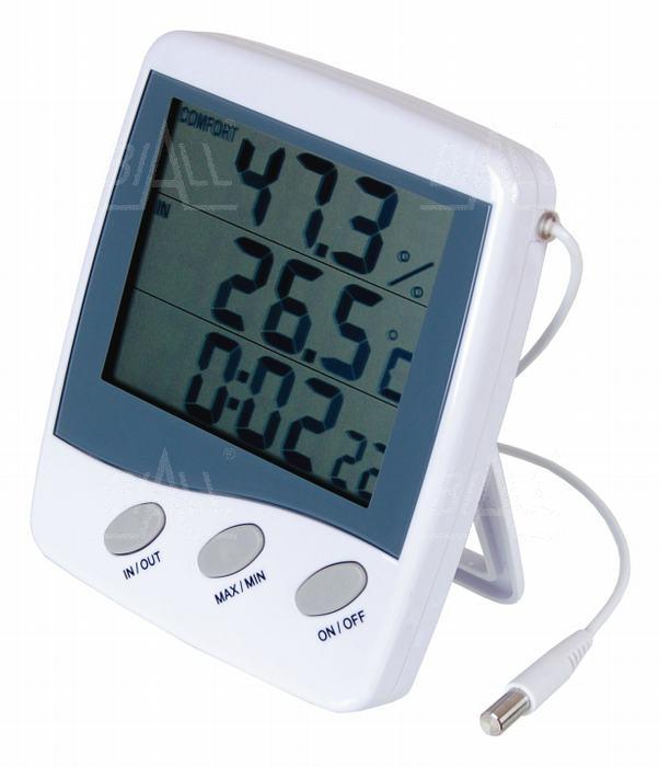 Zdjęcie produktu: HT-9216 Termohigrometr IN/OUT + zegar ATM