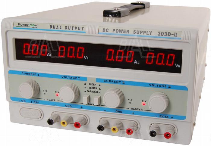 Zdjęcie produktu: Zasilacz lab 303D-II 2x30V/3A 5V/3A DC LED PowerLab