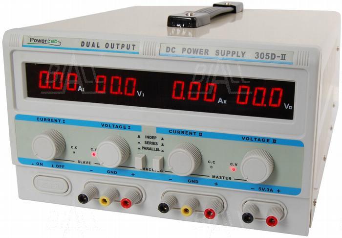 Zdjęcie produktu: Zasilacz lab 305D-II 2x30V/5A 5V/3A DC LED PowerLab