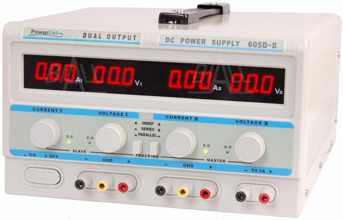 Zdjęcie produktu: Zasilacz lab 605D-II 2x60V/5A,5V/3A DC LED PowerLab