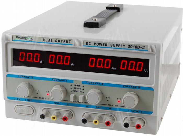Zdjęcie produktu: Zasilacz lab 3010D-II 2x30V/10A 5V/3A DC LED PowerLab