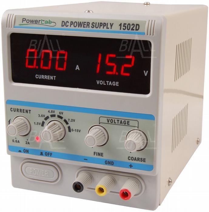 Zdjęcie produktu: Zasilacz serwisowy 1502D 15V/2A DC LED PowerLab