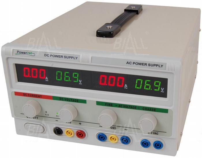 Zdjęcie produktu: Zasilacz lab 30V/5A DC , 30V/2A 6,3V/6A AC LED PowerLab