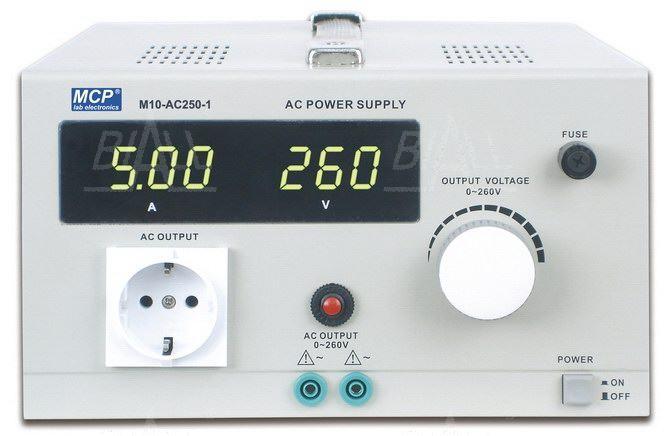 Zdjęcie produktu: Zasilacz lab AC250-1 AC 0-260V/5A, 1300VA autotransformator MCP
