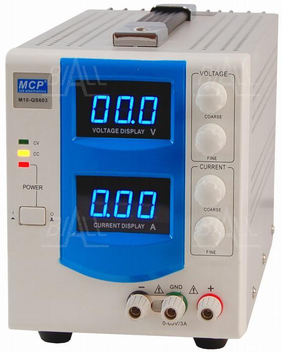 Zdjęcie produktu: Zasilacz lab QS603 DC 60V/3A do pracy ciągłej MCP