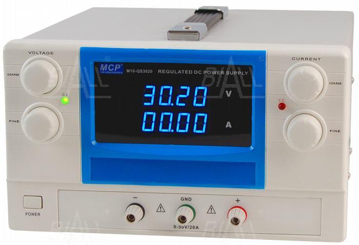 Zdjęcie produktu: Zasilacz lab QS3020 30V/20A DC do pracy ciągłej MCP