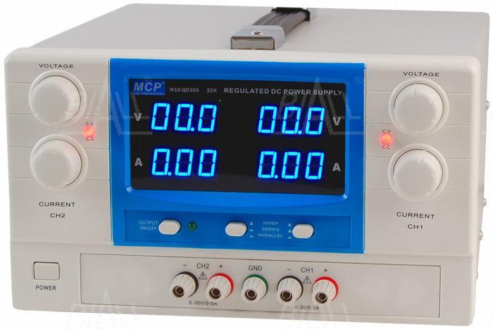Zdjęcie produktu: Zasilacz lab QD305 2x30V/5A DC do pracy ciągłej MCP