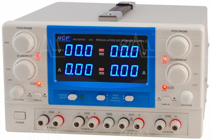 Zdjęcie produktu: Zasilacz lab QP303E 2x30V/3A 6,5V/3A 15V/1A DC do pracy ciągłej MCP
