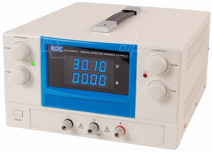 Zdjęcie produktu: Zasilacz lab QS3010 30V/10A DC do pracy ciągłej MCP