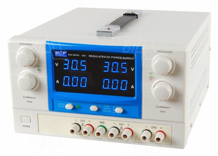 Zdjęcie produktu: Zasilacz lab QR305 2x30V/5A 5V/1A DC do pracy ciągłej MCP