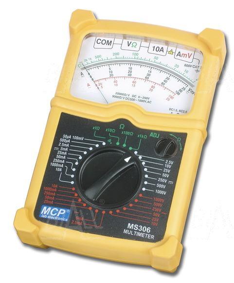Zdjęcie produktu: MS306 Multimetr analogowy AC/DC 1000V, 10A
