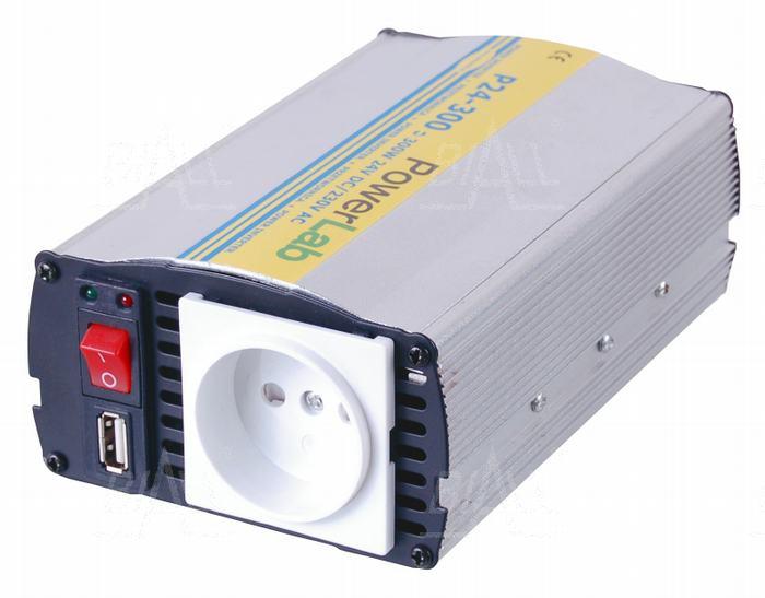 Zdjęcie produktu: Przetwornica 300W DC24V/AC230V P24-300 PowerLab