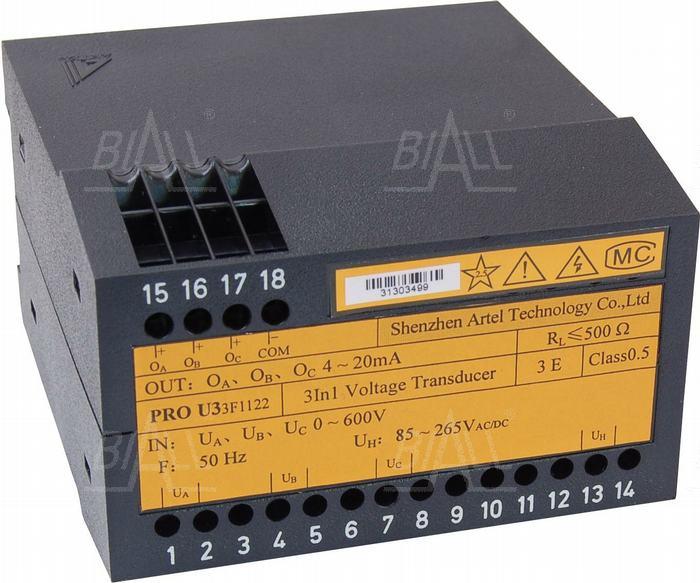 Zdjęcie produktu: Przetwornik napięcia 3-faz PRO U33F1122 ARTEL