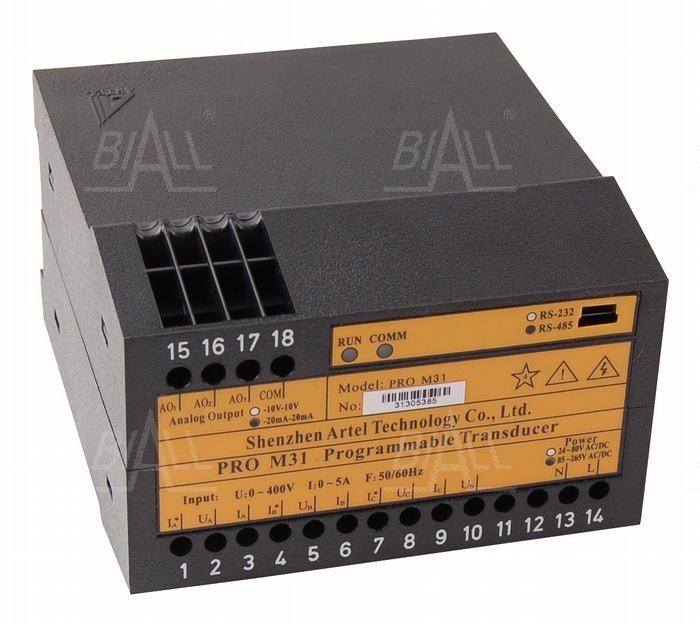 Zdjęcie produktu: Przetwornik program 3-faz PRO M31 ARTEL U/I/P/Q/Hz/PF