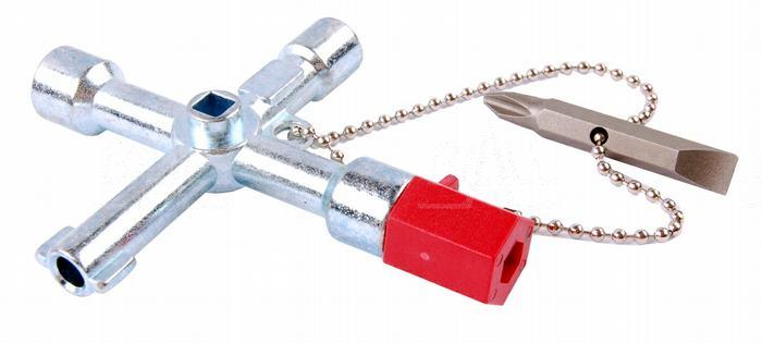Zdjęcie produktu: OPT Kluczyk CS-4 uniwersalny do szaf/rozdzielni