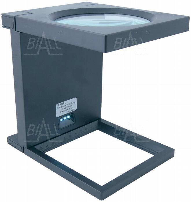 Zdjęcie produktu: Lupa stojąca składana 108mm/2,5D oświetlenie 3xLED