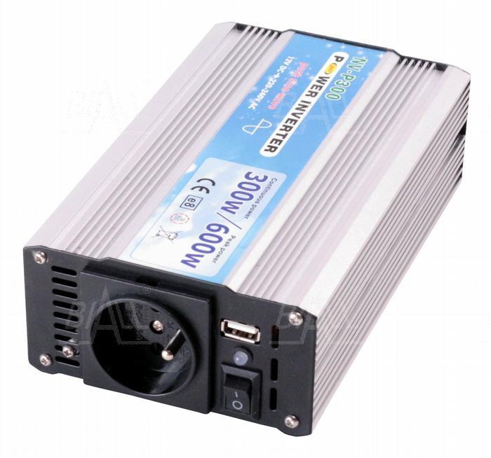 Zdjęcie produktu: Przetwornica P300/12 DC12V/AC230V-50Hz-sinus 300W