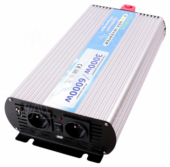 Zdjęcie produktu: Przetwornica P3000/12 DC12V/AC230V-50Hz-sinus 3000W