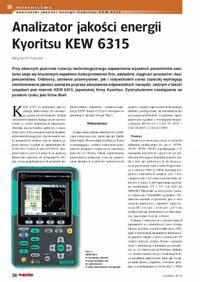 Analizator jakości energii Kyoritsu KEW 6315