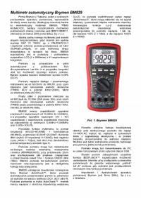 Multimetr automatyczny Brymen BM829